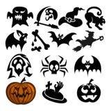 Pacote do atributo de Dia das Bruxas, um pacote assustador do atributo de Dia das Bruxas para atributos do Dia das Bruxas ilustração stock