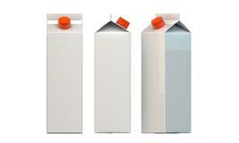 Pacote do leite Imagens de Stock Royalty Free