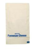Pacote do queijo de Parmesão fotografia de stock royalty free