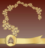 Pacote dourado real Foto de Stock Royalty Free