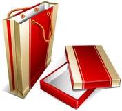 Pacote e caixa Fotos de Stock Royalty Free