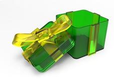 pacote envolvido fita do presente Imagens de Stock Royalty Free