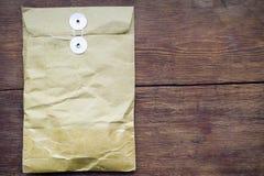 Pacote na madeira Imagem de Stock