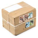 Pacote postal imagem de stock