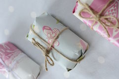 3 pacotes bonitos Foto de Stock Royalty Free