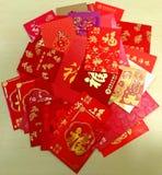 Pacotes chineses do vermelho do ano novo foto de stock