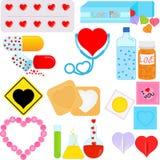 Pacotes com uma forma do coração ilustração royalty free