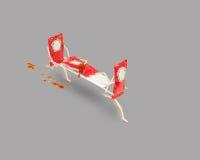 Pacotes da ketchup Imagem de Stock