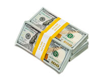 Pacotes de 100 cédulas 2013 da edição dos dólares americanos Fotografia de Stock
