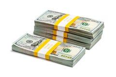 Pacotes de 100 cédulas 2013 da edição dos dólares americanos Imagens de Stock Royalty Free