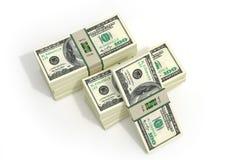 Pacotes de 100 cédulas do dólar Foto de Stock Royalty Free