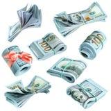 Pacotes de dólares americanos Imagem de Stock