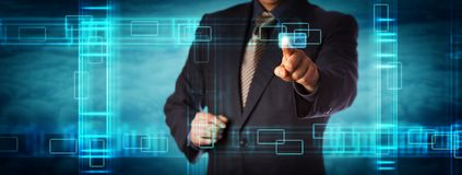 Pacotes de dados de Touching Cluster Of do gerente imagens de stock