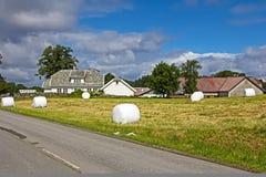 Pacotes de feno em Noruega fotos de stock royalty free