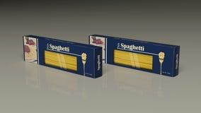 Pacotes de papel dos espaguetes ilustração 3D Fotos de Stock Royalty Free