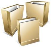 Pacotes de papel dos gêneros alimentícios Imagem de Stock Royalty Free