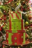 Pacotes do Natal imagens de stock royalty free