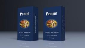 Pacotes do papel de Penne ilustração 3D Imagem de Stock