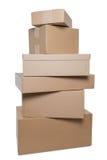 Pacotes empilhados foto de stock