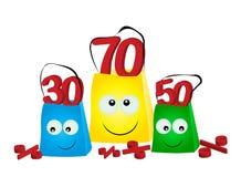 Pacotes para compras Fotografia de Stock Royalty Free