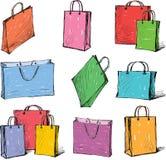 Pacotes para compras Imagens de Stock Royalty Free