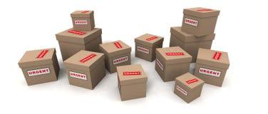 Pacotes urgentes Fotografia de Stock Royalty Free