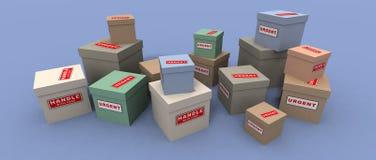 Pacotes urgentes e frágeis Foto de Stock Royalty Free