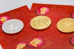 Pacotes vermelhos criptos Foto de Stock