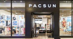 Pacsun logo Na sklepu przodu znaku fotografia royalty free