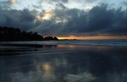 Pacyficzna północny zachód plaża, usa Obrazy Royalty Free