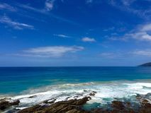 Pacyficznego oceanu linia brzegowa Obrazy Royalty Free