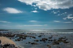 Pacyficznego oceanu linia brzegowa w Nowym Zealand Obrazy Royalty Free