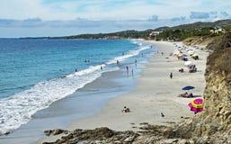 Pacyficznego oceanu plaża i kipiel zdjęcie royalty free