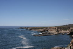 Pacyficznego oceanu Skalisty krajobraz Zdjęcie Stock