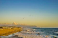 Pacyficznego oceanu wybrzeża zmierzch San Fransisco Kalifornia Obraz Royalty Free