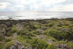 Pacyficzny ocean chmurny obrazy royalty free