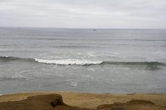 Pacyficzny ocean na chmurnym dniu Obrazy Royalty Free