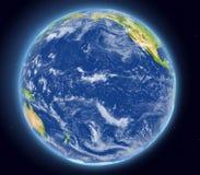 Pacyficzny ocean od przestrzeni Zdjęcia Royalty Free