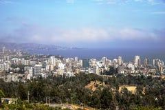 Pacyficzny ocean Santiago De Chile Zdjęcia Royalty Free