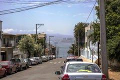 Pacyficzny ocean Santiago De Chile Obraz Stock