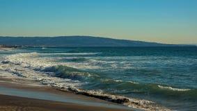 Pacyficzny widok na ocean od Los Angeles plaży Obrazy Royalty Free