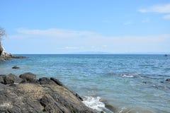 Pacyficzny widok w Costa Rica zdjęcia royalty free