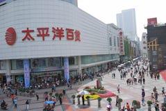 Pacyficzny Wydziałowy sklep, Chengdu, Chiny Zdjęcie Stock