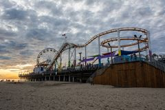 Pacyfik park na Snata Monica molu w Snata Monica, CA fotografia stock
