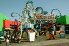 Pacyfik park, Snata Monica plaża, Kalifornia, usa fotografia stock