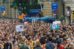Pacyfik protest, Barcelona fotografia stock
