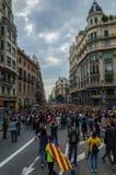 Pacyfik protest, Barcelona zdjęcie royalty free