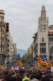 Pacyfik protest, Barcelona zdjęcia stock