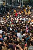 Pacyfik protest, Barcelona obraz stock