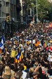 Pacyfik protest, Barcelona fotografia royalty free